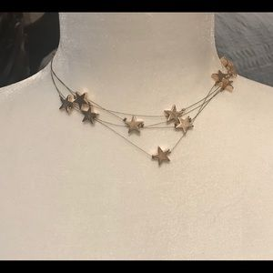 Jewelry - Multi-layer Gold-plated Star Choker Necklace